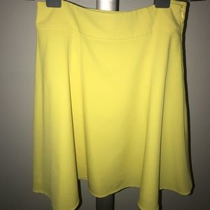 The Limited Yellow A-Line Skirt